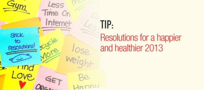 healthy resolutions banner